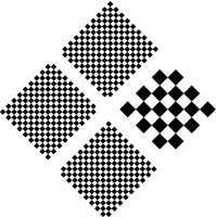 Fig. P4 Checkerboard pattern