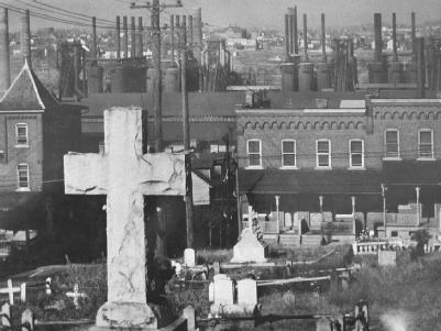 The establishment of cemeteries, such as the one pictured, may be prohibited by state or local legislative bodies but only under certain circumstances. LIBRARY OF CONGRESS