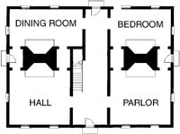 Download this Center Hall Plan picture