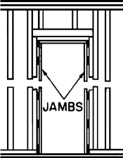 Jambs article about jambs by the free dictionary for Window jamb definition