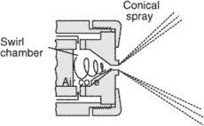 atomizer-type burner