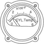cylinder head temperature (CHT) gauge