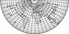 modified Lambert conformal map projection