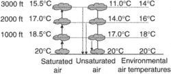 conditionally unstable air