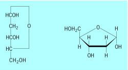 Formulas of 2- D -deoxyribose (α- D -2-deoxyribofuranose)