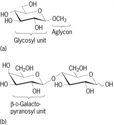 Structural formulas of two glycosides