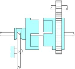 Square-jaw-type positive clutch