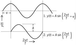 An illustration of the meaning of phase for a sinusoidal wave
