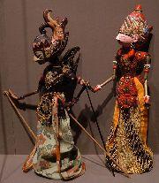 A pair of wayang golek from Java