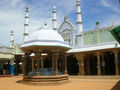 The Jamiah Masjid in Tamilnadu, South India has Dravidian style of architecture