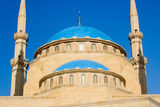 The domes of the Khatem Al Anbiyaa Mosque in Beirut, Lebanon.