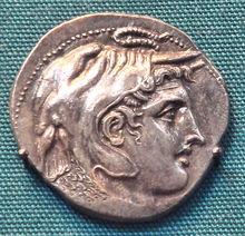 PtolemyCoinWithAlexanderWearingElephantScalp Ptolemy I Soter (Greek: Πτολεμαῖος Σωτήρ,367 BC—283 BC