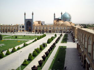 Imam Mosque, formerly Shah Mosque along Naghsh-i Jahan Square in Isfahan, Iran
