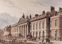 The expanded East India House, Leadenhall Street, London, as rebuilt 1799-1800, Richard Jupp, architect (as seen c. 1817; demolished in 1929)