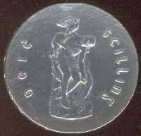 The figure of Cúchulainn was used to commommorate the Easter Rising on the ten shilling coin