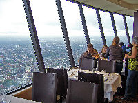 Inside the 360 Restaurant in the CN Tower