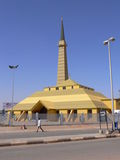 Hajja Soad mosque in Khartoum land terminal. Designed by arch. Hussein Kinani at 2006, Sudan.