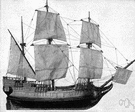 mayflower - the ship in which the Pilgrim Fathers sailed from England to Massachusetts in 1620