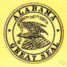 Alabama - a state in the southeastern United States on the Gulf of Mexico