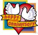 wedding anniversary - the anniversary of the day on which you were married (or the celebration of it)