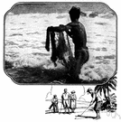 surf casting - casting (artificial) bait far out into the ocean (up to 200 yards) with the waves breaking around you