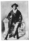burke - United States frontierswoman and legendary figure of the Wild West noted for her marksmanship (1852-1903)