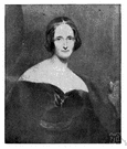 Shelley - English writer who created Frankenstein's monster and married Percy Bysshe Shelley (1797-1851)