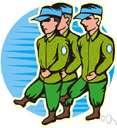 squad - a smallest army unit
