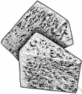 blue cheese - cheese containing a blue mold