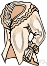 blouse - a top worn by women