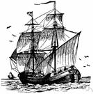 bottom - a cargo ship