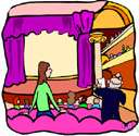 theatre - a building where theatrical performances or motion-picture shows can be presented