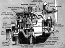 force feed - mechanical system of lubricating internal combustion engines in which a pump forces oil into the engine bearings