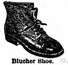 Blücher - a high shoe with laces over the tongue