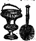 aspersorium - a short-handled device with a globe containing a sponge