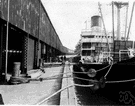mooring line - (nautical) a line that holds an object (especially a boat) in place