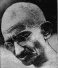 Gandhi - political and spiritual leader during India's struggle with Great Britain for home rule