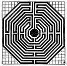 maze - complex system of paths or tunnels in which it is easy to get lost