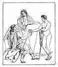 Io - (Greek mythology) a maiden seduced by Zeus