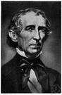 President Tyler - elected vice president and became the 10th President of the United States when Harrison died (1790-1862)