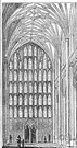 perpendicular - a Gothic style in 14th and 15th century England