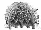 tracery - decoration consisting of an open pattern of interlacing ribs
