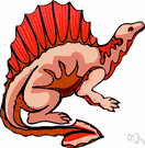 dimetrodon - carnivorous dinosaur of the Permian in North America having a crest or dorsal sail