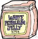 petroleum jelly - a semisolid mixture of hydrocarbons obtained from petroleum
