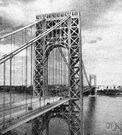 George Washington Bridge - a suspension bridge across the Hudson River between New York and New Jersey