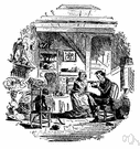 phiz - English illustrator of several of Dickens' novels (1815-1882)
