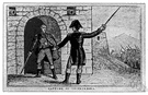 Ethan Allen - a soldier of the American Revolution whose troops helped capture Fort Ticonderoga from the British (1738-1789)