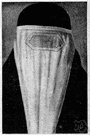chadar - a cloth used as a head covering (and veil and shawl) by Muslim and Hindu women