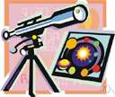 solar telescope - a telescope designed to make observations of the sun