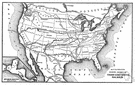 transcontinental - spanning or crossing or on the farther side of a continent
